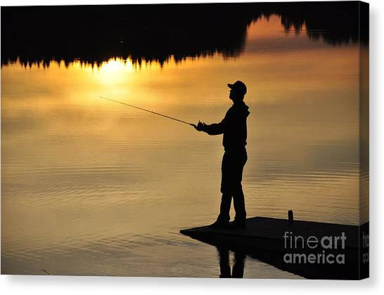 Fisherman Canvas Print by Conny Sjostrom