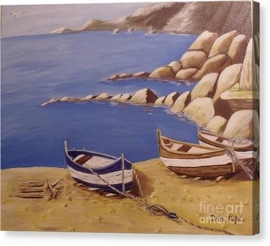 Fisherman's Boats Canvas Print by Debra Piro