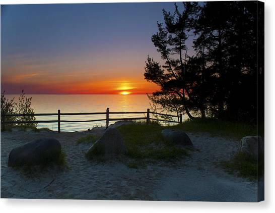 Fisherman's Island State Park Canvas Print by Megan Noble