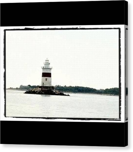 Marshes Canvas Print - Fisher's Island Lighthousr by Cathy Marsh Photography