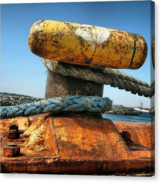 Fishing Boats Canvas Print - #fishing #boat #anchor by Yannick Menard