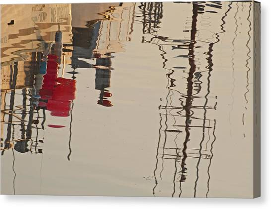 Fishing Boat Reflections Canvas Print