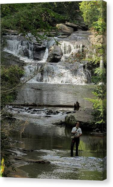 Fishing For Trout Canvas Print