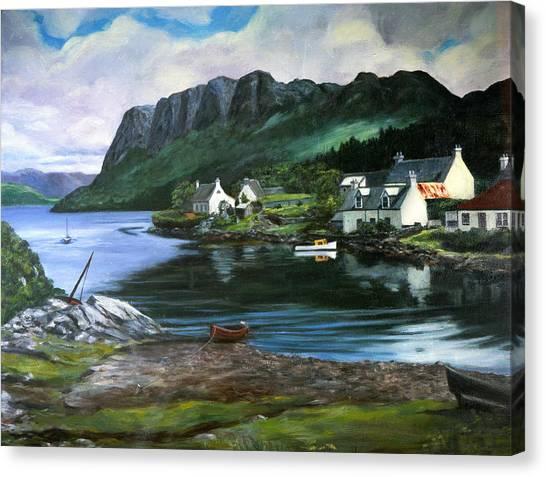 Canvas Print - Fishing Village In Ireland by Bobi Glenn