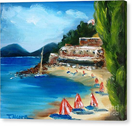 Fishing Village Of Greece Canvas Print