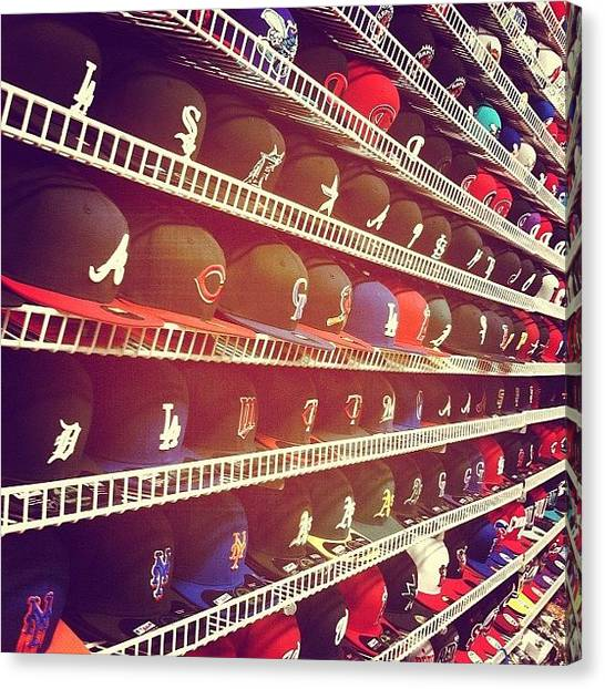 Baseball Teams Canvas Print - Fitted Heaven For Ya Dudes by George Velez