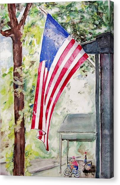 Flag Day Canvas Print by Regina Ammerman