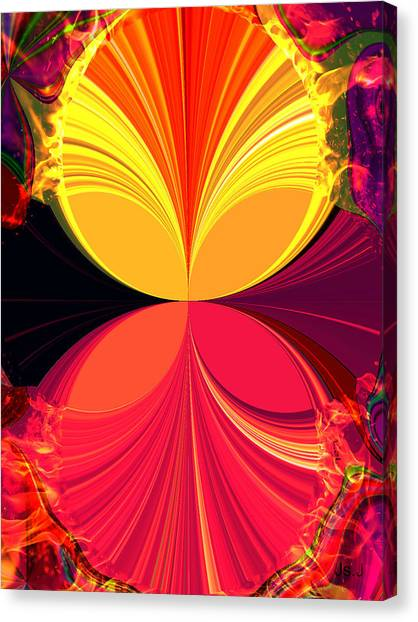 Flamed Canvas Print by Jan Steadman-Jackson