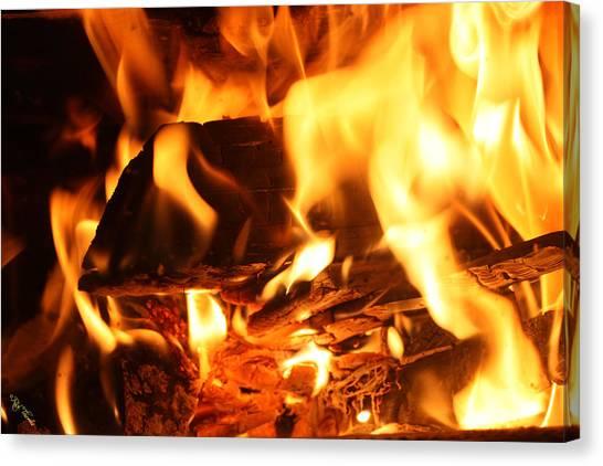 Flames 1 Canvas Print