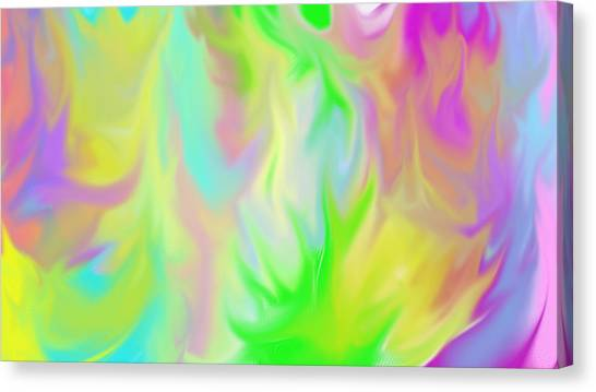 Flames / Chamas Canvas Print by Rosana Ortiz