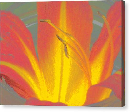 Flames Canvas Print by Wide Awake Arts