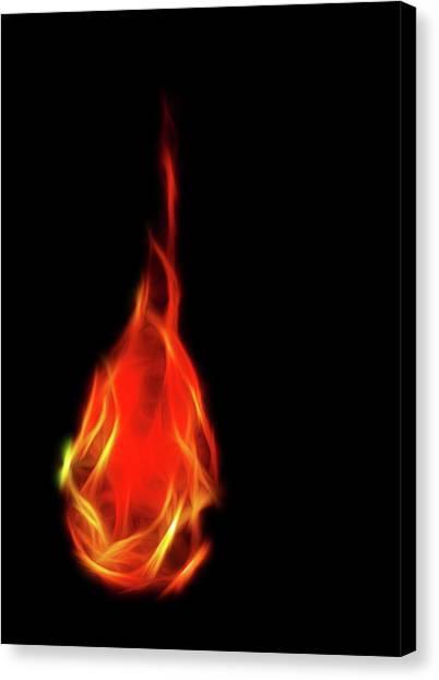 Flaming Tear Canvas Print