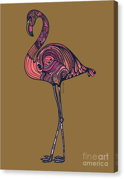 Flamingos Canvas Print - Flamingo by HD Connelly