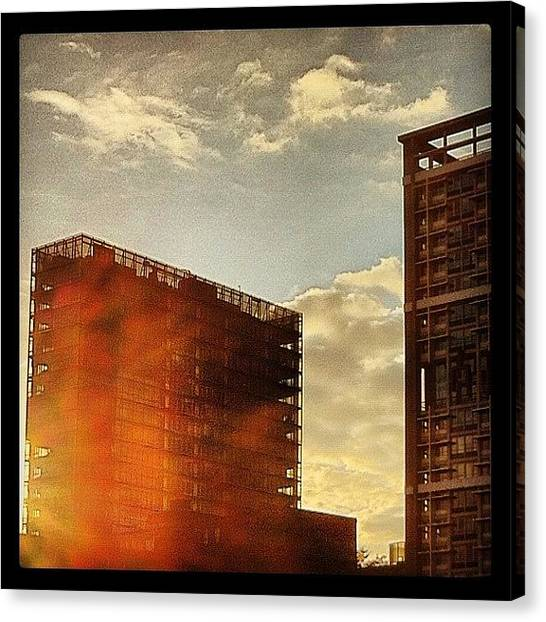 Flames Canvas Print - Flammende Abendsonne #flaming #evening by Valnowy Photography