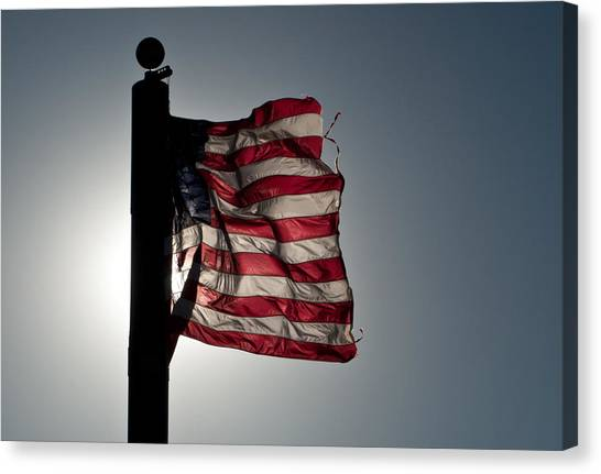 Flappin Old Glory Canvas Print by Keith Sanders