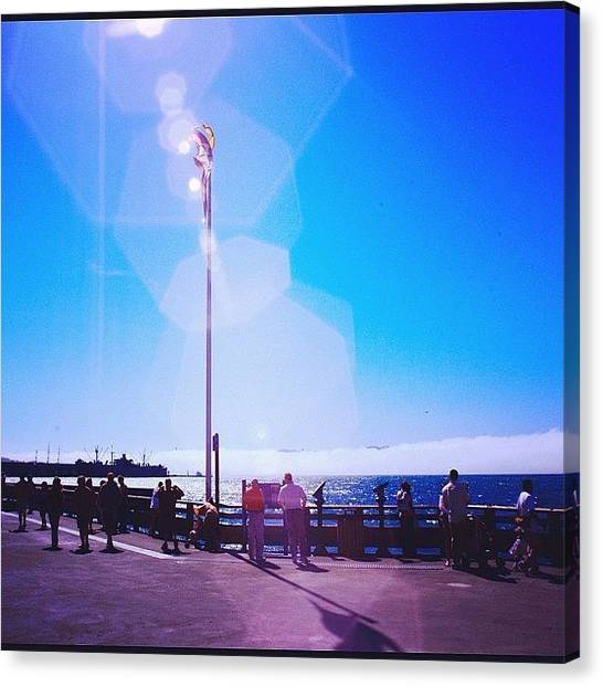 Seas Canvas Print - Flare #sun #sea by Tommy Tjahjono