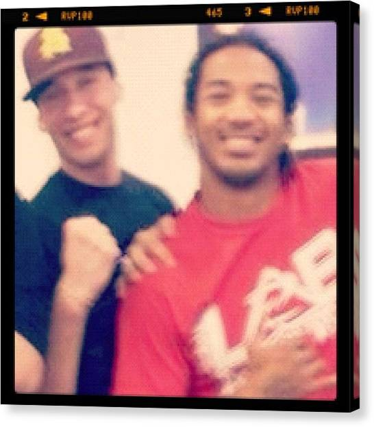 Ufc Canvas Print - #flashbackfriday Me & Ben Back In 2009 by Wes Boese