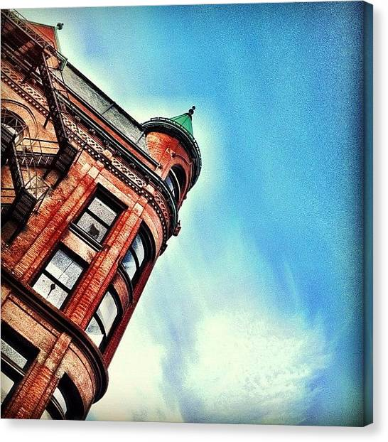 Geometry Canvas Print - Flat Iron Building by Christopher Campbell