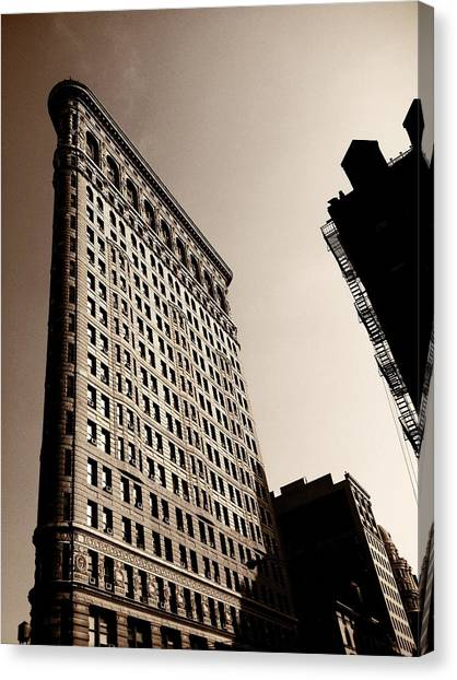 Times Square Canvas Print - Flatiron Building - New York City by Vivienne Gucwa