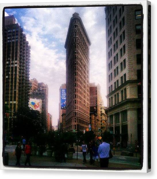 Icon Canvas Print - #flatiron #building #nyc #architecture by Steven Young