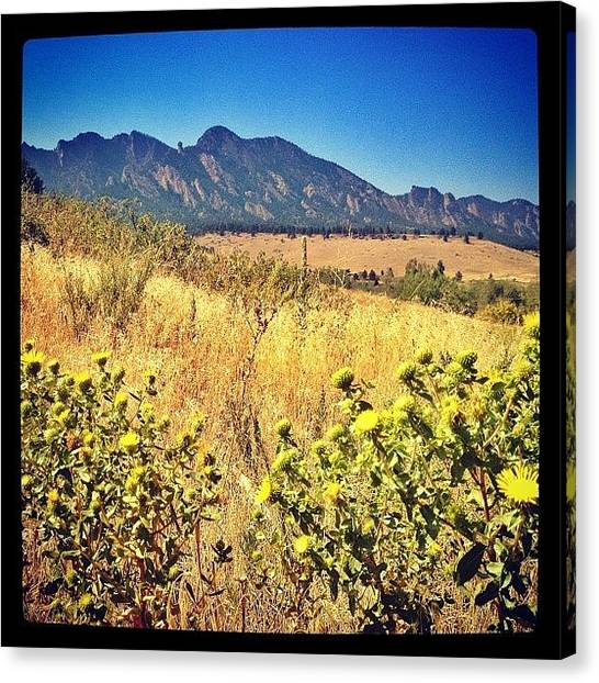 Rocky Mountains Canvas Print - Flatirons From Dowdy Dray by Jonathan Joslyn