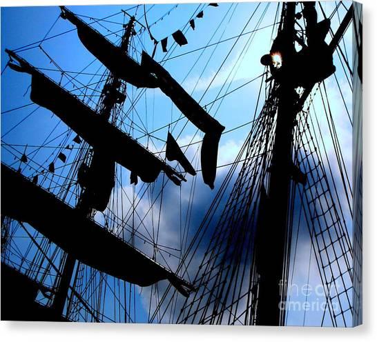 Fleet Week - Masts Canvas Print by Maria Scarfone