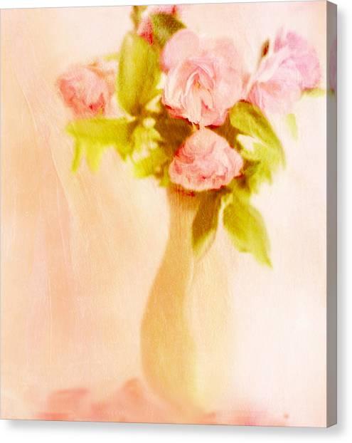 Fleurs Pastel Canvas Print