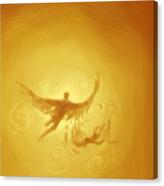 Brush Canvas Print - #flight Of #icarus #sketch by Jeff Reinhardt