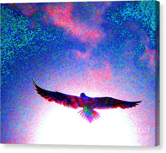 Phoenix Suns Canvas Print - Flight Of The Phoenix by Jerome Stumphauzer