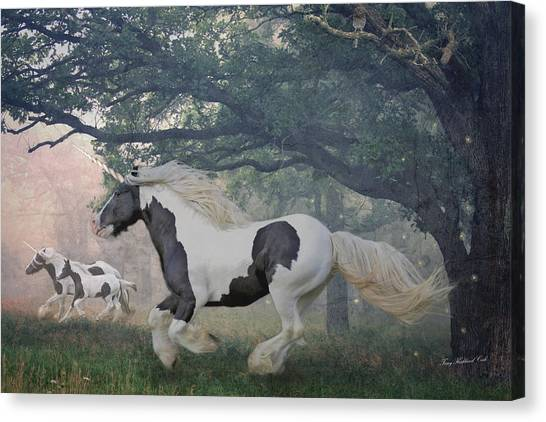 Flight Of The Unicorns Canvas Print