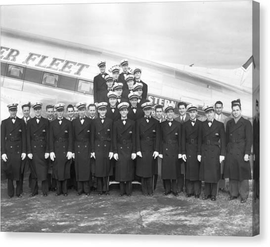 Flight Stewards Canvas Print by Archive Photos