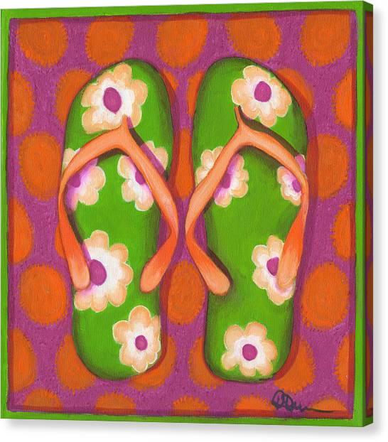 Flip Flops1 Canvas Print