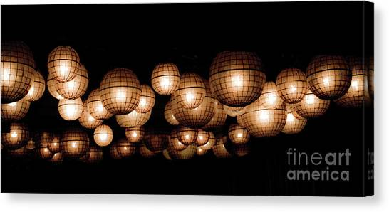 Floating Orbs Canvas Print