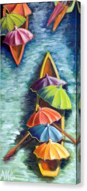 Floating Umbrellas Canvas Print