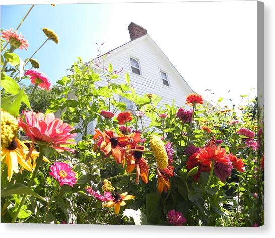 Flora House Canvas Print