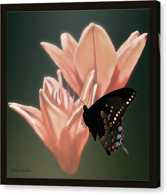 Floral Butterfly Dance Canvas Print by Debra     Vatalaro