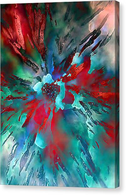 Floral Eruption Canvas Print by AnneLise McCoy