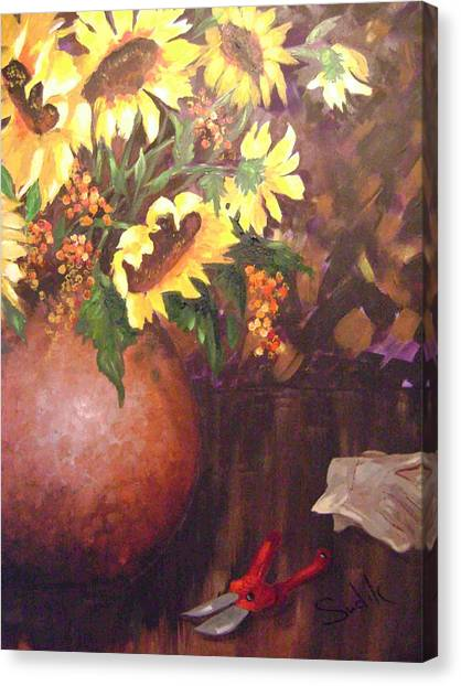 Bittersweet Canvas Print - Floral Sunshine by Barbara Sudik