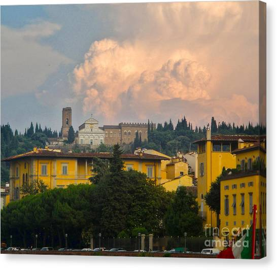 Florence Italy - San Miniato Al Monte Canvas Print by Gregory Dyer