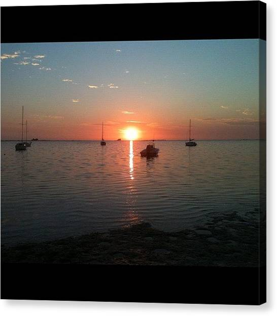 Sailboats Canvas Print - Florida Sunset by Bill Cannon