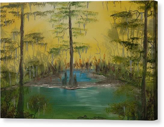 Florida Swamp Canvas Print by Katheryn Napier
