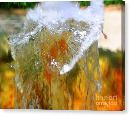 Flow Aglow Canvas Print