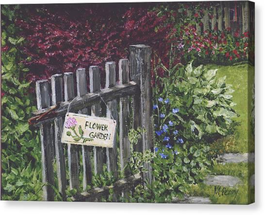 Flower Garden At Fell's Canvas Print