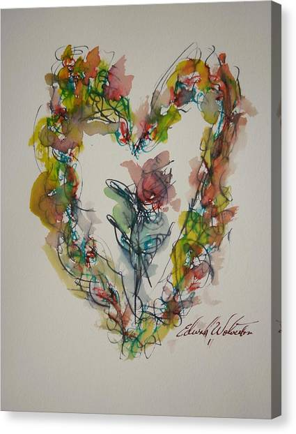 Flower Heart Song Canvas Print by Edward Wolverton