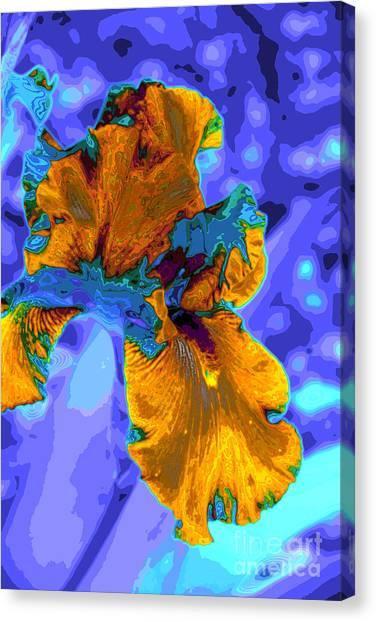 Flower Moderna Canvas Print by Rick Bragan