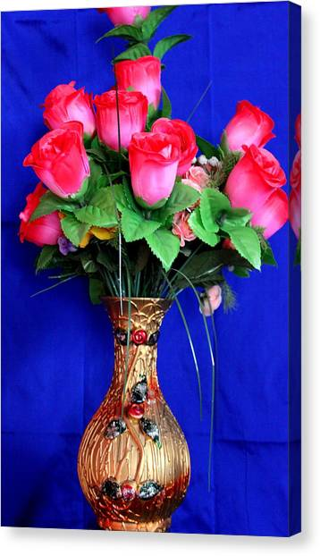 Flower Vase Canvas Print by Nagendra Rao  H S