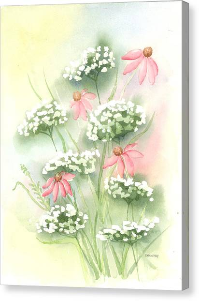 Flowers And Lace Canvas Print by Susan Mahoney