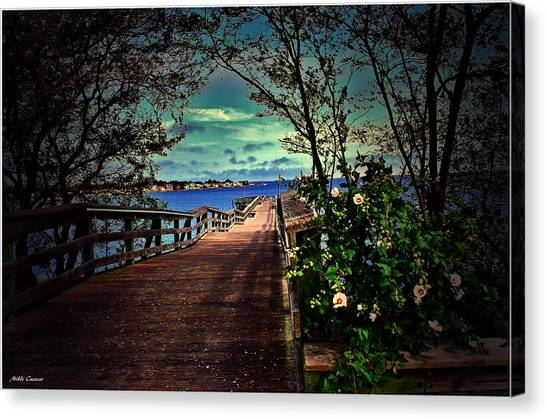 Flowers By The Pier Canvas Print