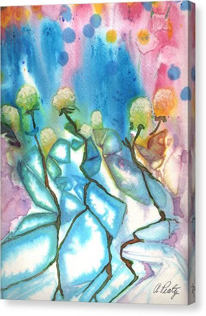 Flowers On Ice Canvas Print