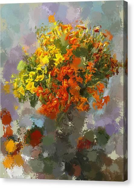 Flowers1 Canvas Print by Yury Malkov